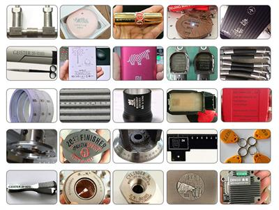 Samples of fiber laser marking machine