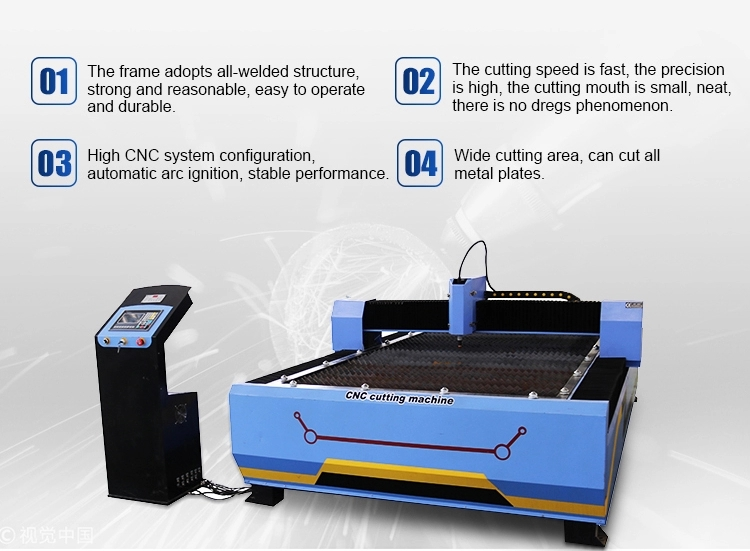 cnc plasma cutter machine in China