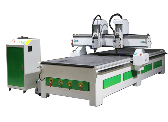 two heads cnc woodworking machine