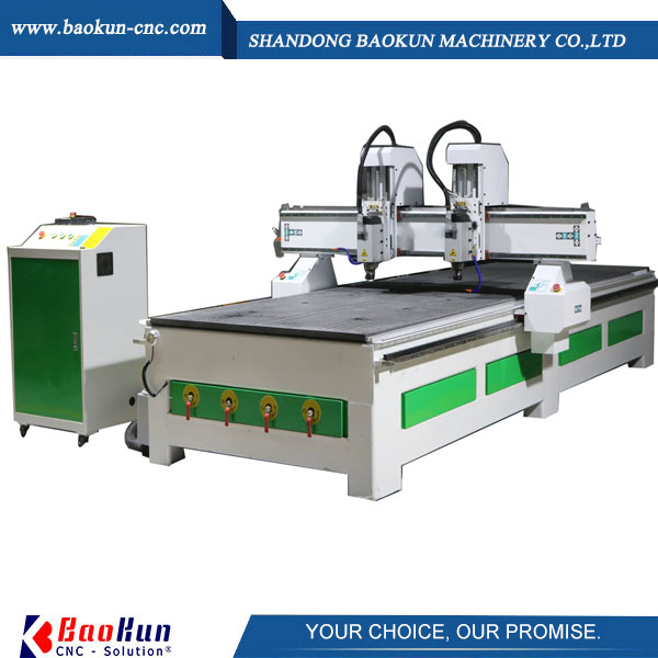 two spindles cnc router machine