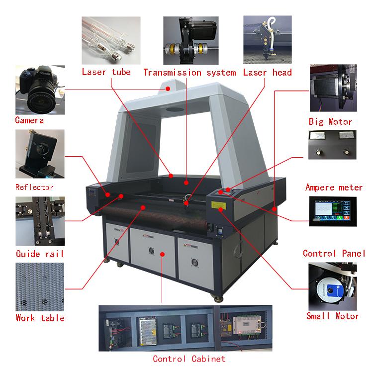 CCD laser cutting machine with camera