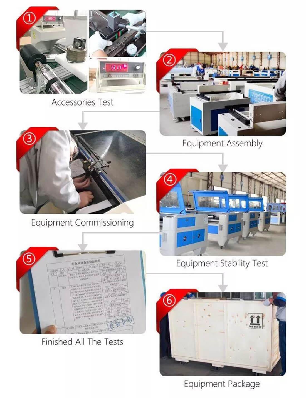 installation of the laser machine (1)
