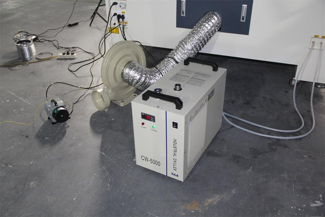 water chiller for the laser machine